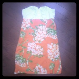 Lilly Pulitzer Strapless Dress SZ 0